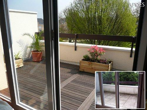 terrasse extérieure en bois exotique à Rennes et en IlleetVilaine